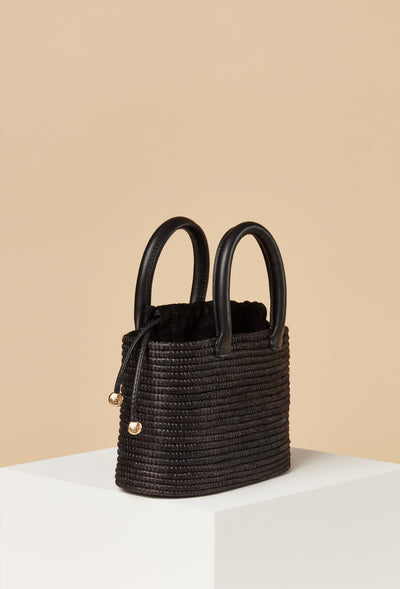 Mini Top Handle Bag / Black