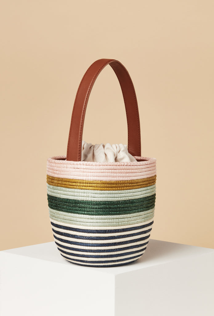 Pink Mint Stripe Lunchpail