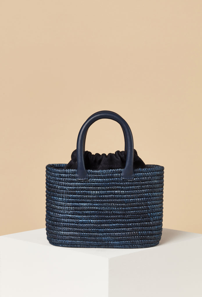 3 Left - Mini Top Handle Bag / Navy