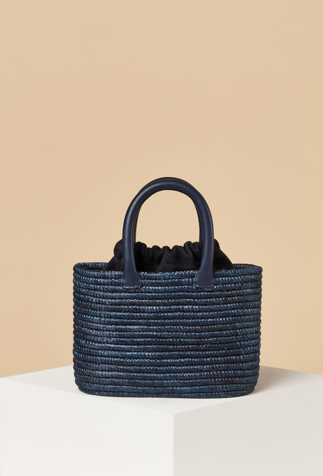 Mini Top Handle Bag / Navy
