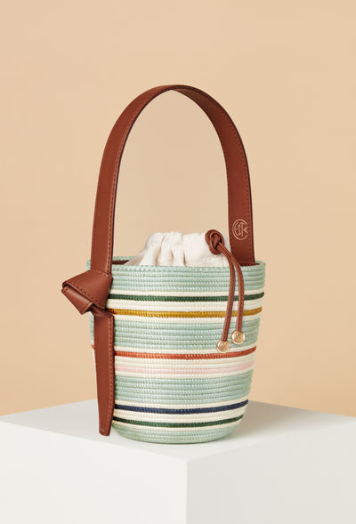 Mint Rainbow Stripe Lunchpail