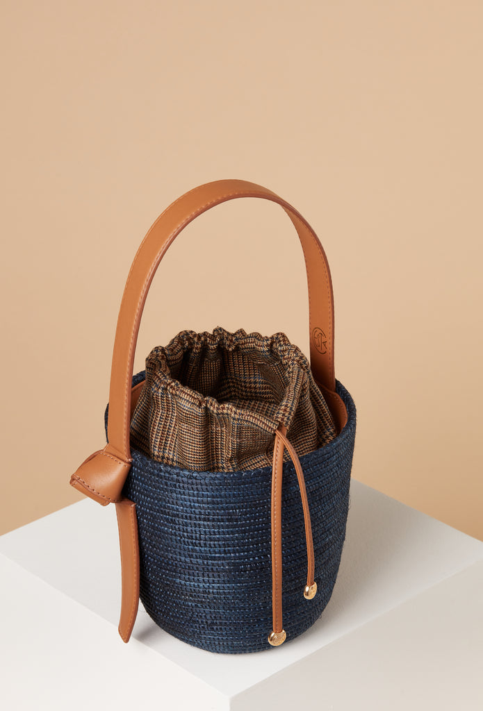Navy / Camel Plaid Lunchpail