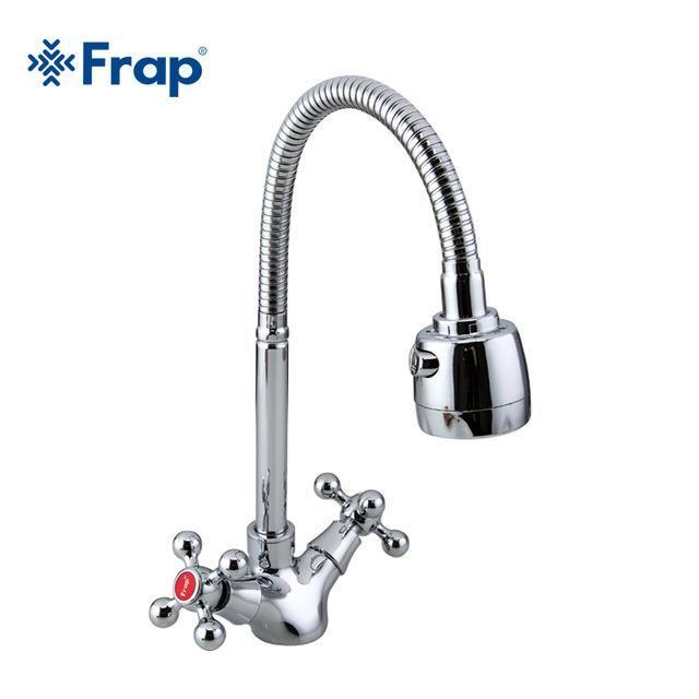 Silver Double Handle Kitchen Sink Faucet Mixer Cold And Hot Kitchen Ta Hydrosolar
