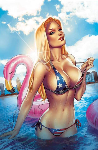 Patriotika Chapter 1 Elias Chatzoudis Signed Amazing Las Vegas Numbered Variant
