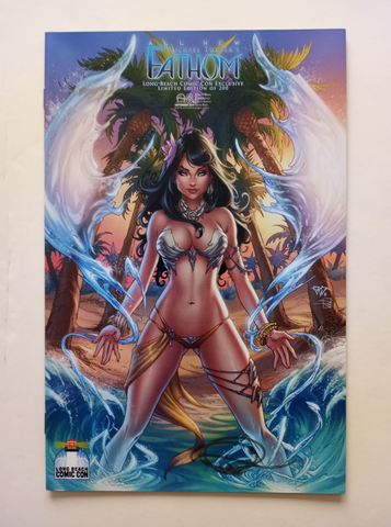 SIGNED Michael Turner's All New Fathom #8 Long Beach Comic Con Exclusive Paolo Pantalena Limited Edition of 200