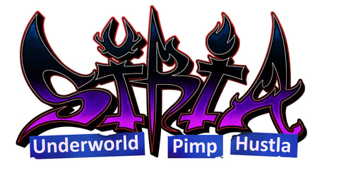 Siria: Underworld Pimp Hustla Official Logo Sticker Five Pack