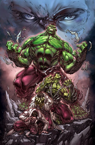 "Signed Incredible Hulk Paolo Pantalena 11x17"" Art Print"