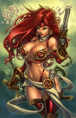 "Signed Battle Chasers Red Monika Paolo Pantalena 11 x 17"" Art Print"