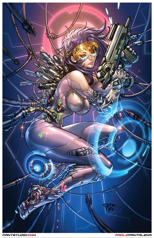"Signed Ghost in the Shell Paolo Pantalena 11 x 17"" Art Print"
