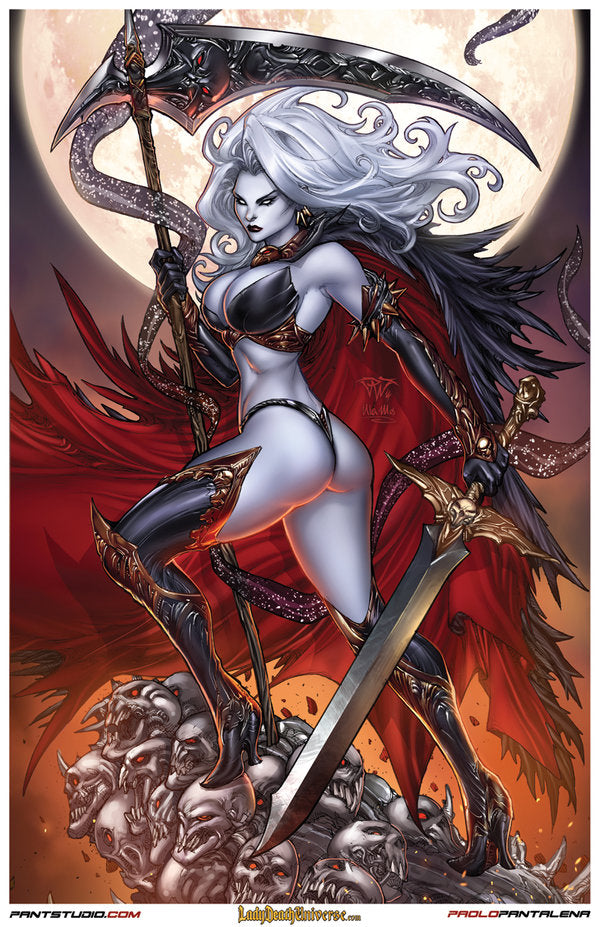 "Signed Lady Death Paolo Pantalena 11 x 17"" Art Print – Primetime  Collectibles"