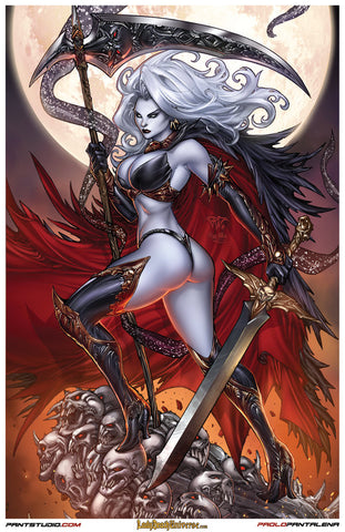 "Signed Lady Death Paolo Pantalena 11 x 17"" Art Print"
