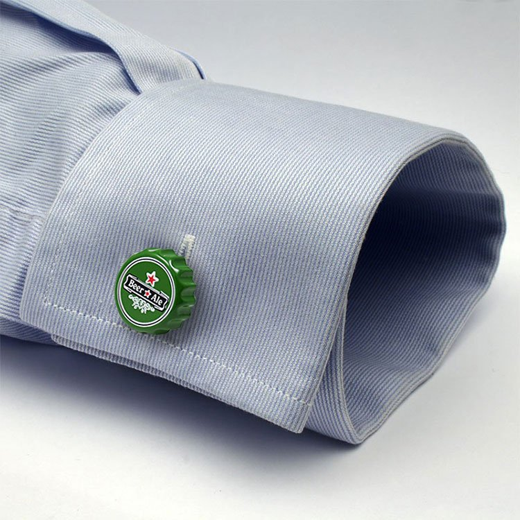 Beer Bottle Cap Cufflinks