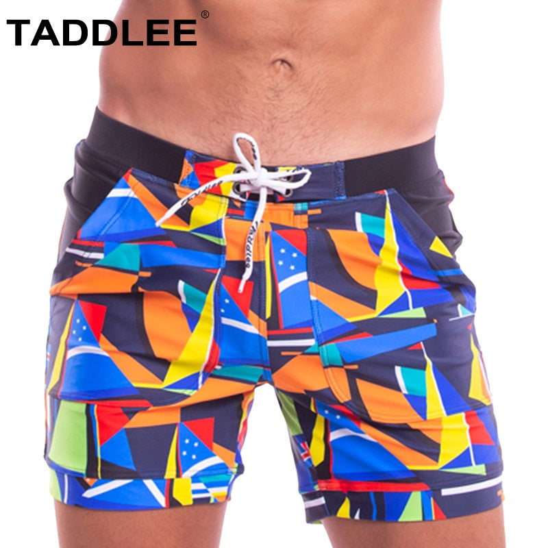 TADDLEE® Geometric Swimming Trunks