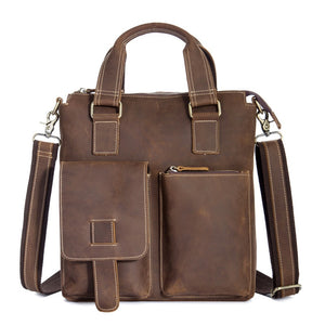 Brown Cross-body Leather Satchel