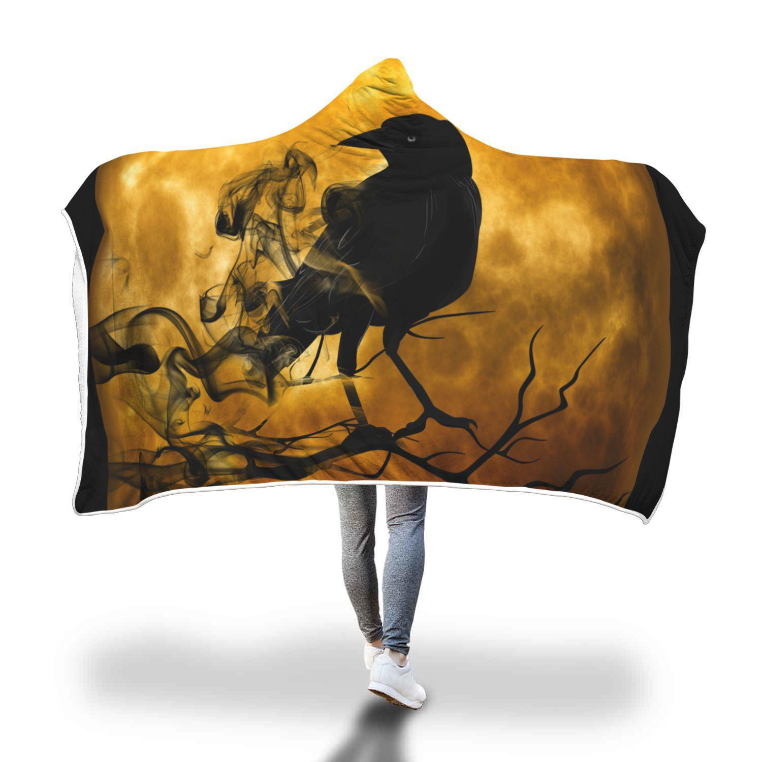 Raven Moon Hooded Blanket