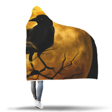 Load image into Gallery viewer, Raven Moon Hooded Blanket