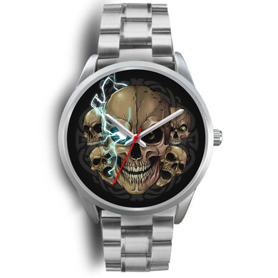 Raging Emperor Silver Skull Watch