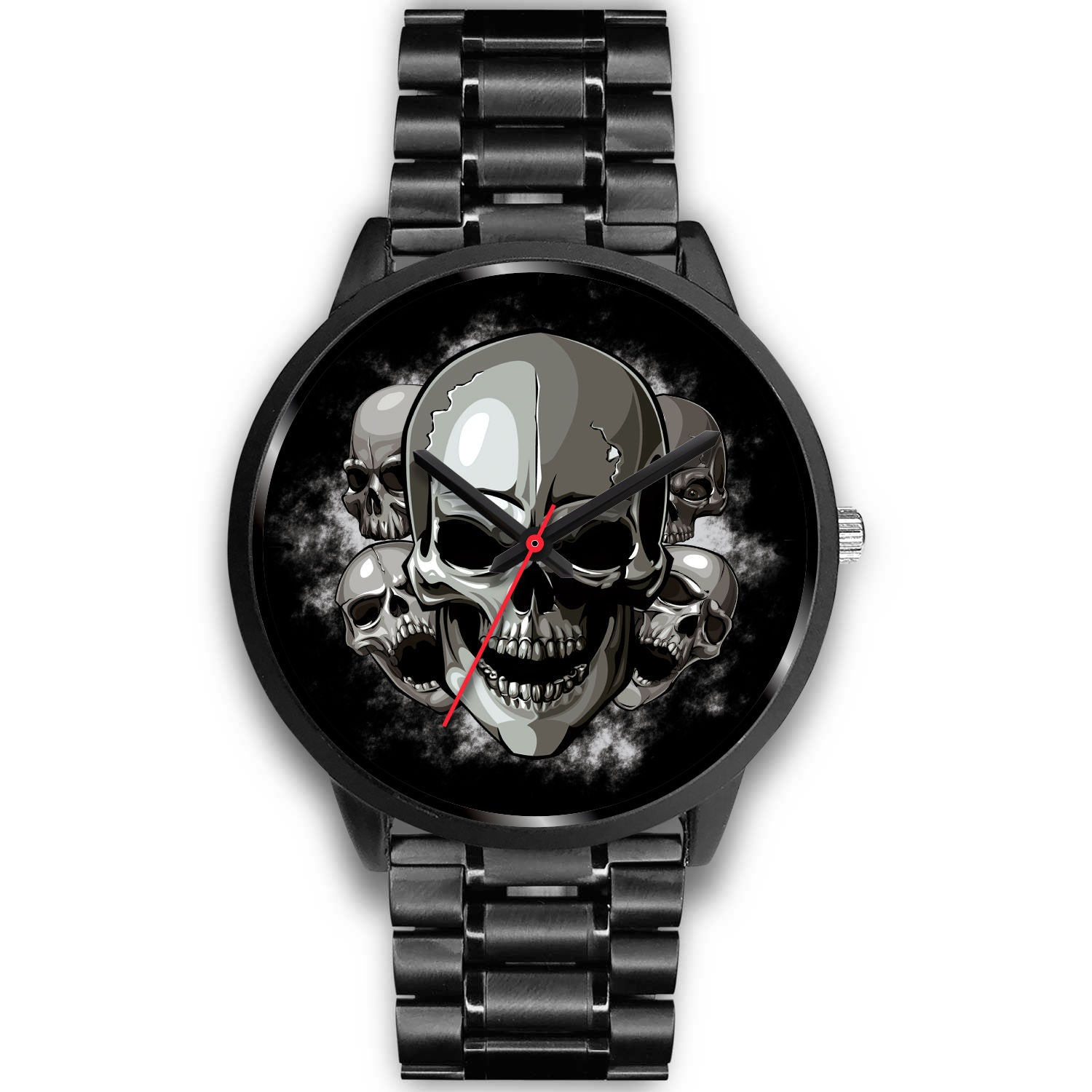 5 Heads Skull Watch