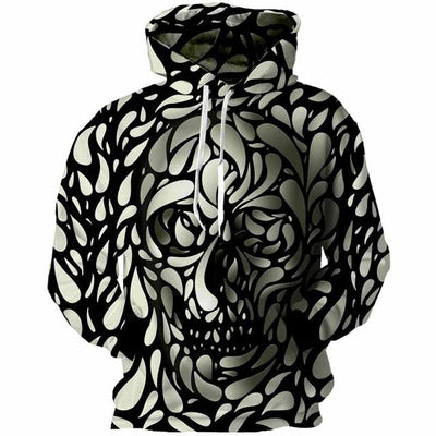 3D Cloud - Skull Hoodie-Hoodie-SKULLZOPHRENIA-As shown-S-SKULLZOPHRENIA