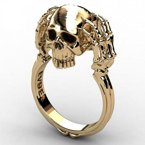 Vidus Skull Steel Ring