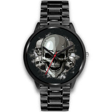 Load image into Gallery viewer, Black Cranial Watch-Black Watch-wc-fulfillment-Mens 40mm-Black Metal Link-SKULLZOPHRENIA
