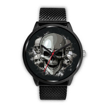 Load image into Gallery viewer, Black Cranial Watch-Black Watch-wc-fulfillment-Mens 40mm-Black Metal Mesh-SKULLZOPHRENIA