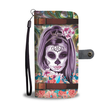 Calavera Catrina Wallet Phone Case-Wallet Case-wc-fulfillment-SKULLZOPHRENIA