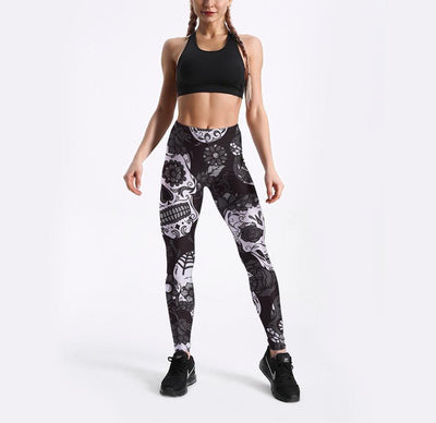 Candy Skull Leggings-leggings-SKULLZOPHRENIA-SKULLZOPHRENIA