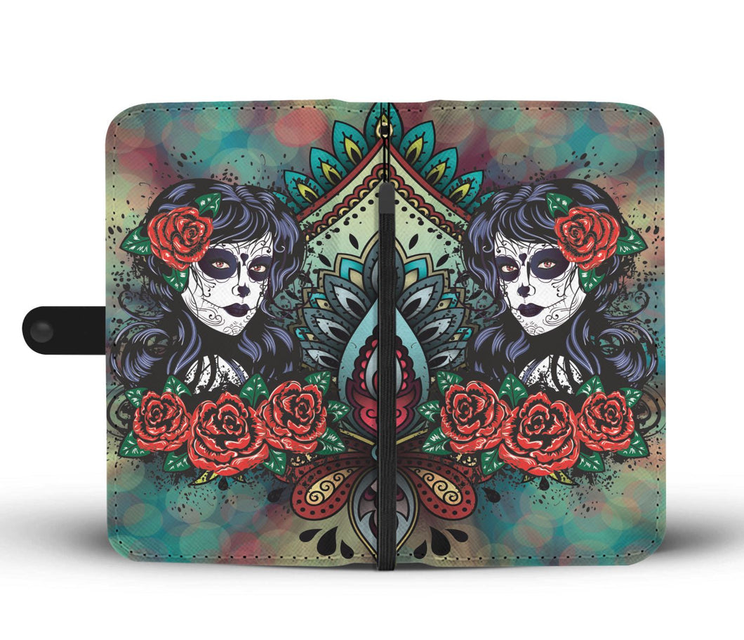 Catrina Rose Wallet Phone Case-Wallet Case-wc-fulfillment-SKULLZOPHRENIA
