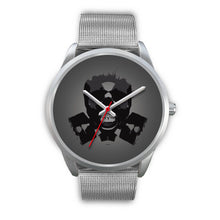 Load image into Gallery viewer, Dark Revenant Silver Skull Watch-Silver Watch-wc-fulfillment-Mens 40mm-Silver Metal Mesh-SKULLZOPHRENIA