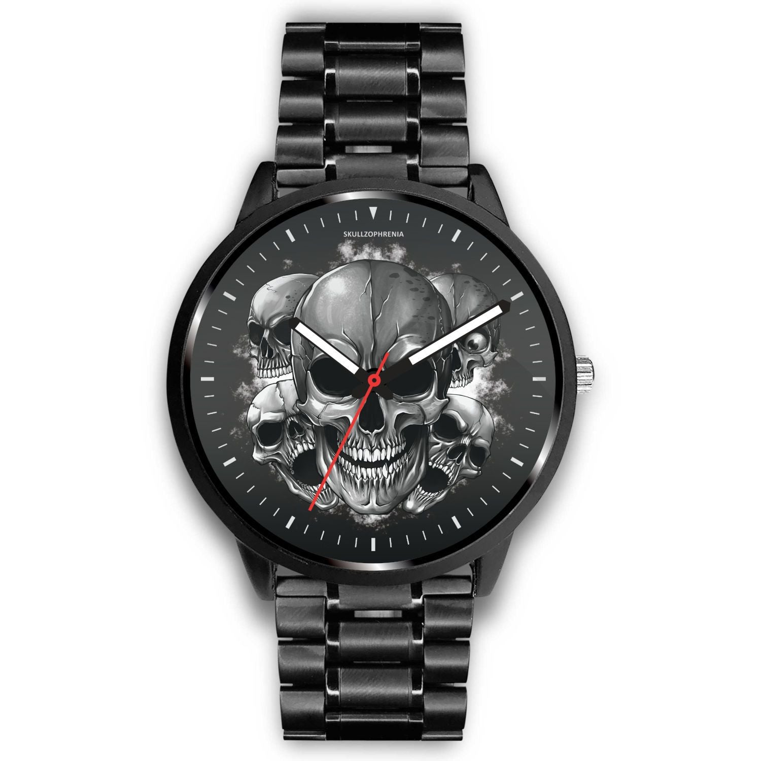 Dark Skulls Prime Watch-Watch-wc-fulfillment-Mens 40mm-Metal Link-SKULLZOPHRENIA