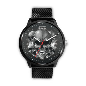 Dark Skulls Prime Watch-Watch-wc-fulfillment-Mens 40mm-Metal Mesh-SKULLZOPHRENIA