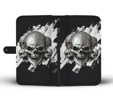 Load image into Gallery viewer, Dark Skulls Wallet Phone Case-Wallet Case-wc-fulfillment-SKULLZOPHRENIA