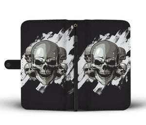 Dark Skulls Wallet Phone Case-Wallet Case-wc-fulfillment-SKULLZOPHRENIA