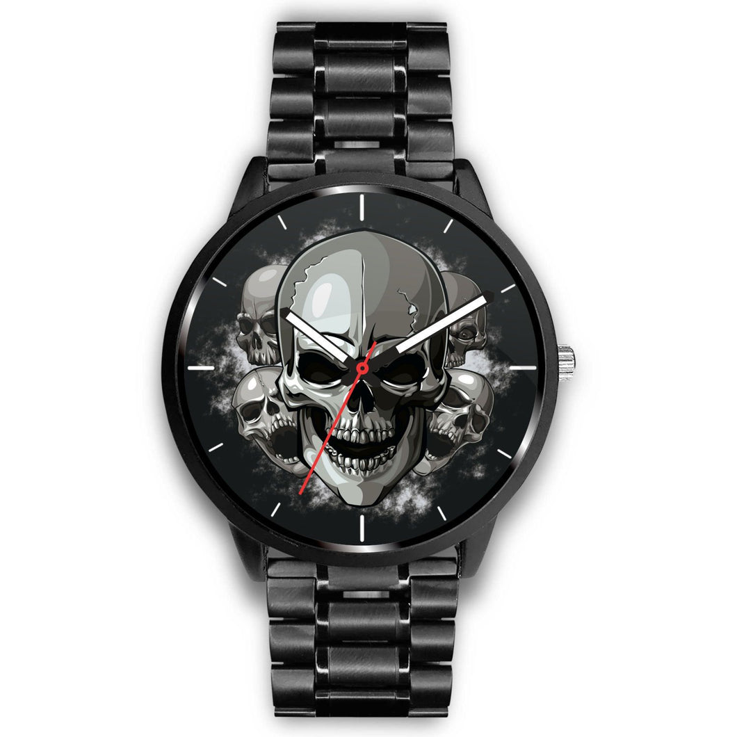 Dark Skulls Watch-Watch-wc-fulfillment-Mens 40mm-Metal Link-SKULLZOPHRENIA