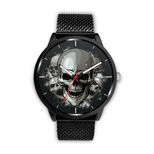 Dark Skulls Watch-Watch-wc-fulfillment-Mens 40mm-Metal Mesh-SKULLZOPHRENIA