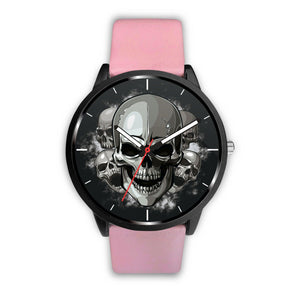 Dark Skulls Watch-Watch-wc-fulfillment-Mens 40mm-Pink-SKULLZOPHRENIA