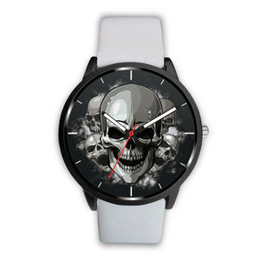 Dark Skulls Watch-Watch-wc-fulfillment-Mens 40mm-White-SKULLZOPHRENIA