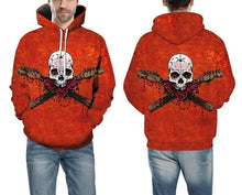 Load image into Gallery viewer, Defend Skull - 3D Hoodie-Hoodie-SKULLZOPHRENIA-SKULLZOPHRENIA