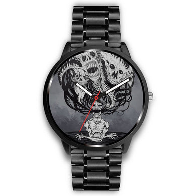 Downbeat Skull Watch-Watch-wc-fulfillment-Mens 40mm-Metal Link-SKULLZOPHRENIA