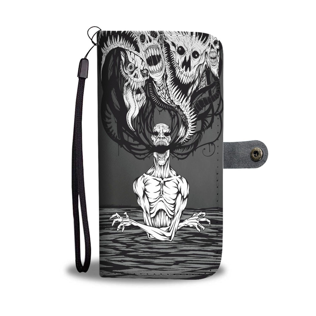 Downbeat V2 Skull Wallet Phone Case-Wallet Case-wc-fulfillment-SKULLZOPHRENIA