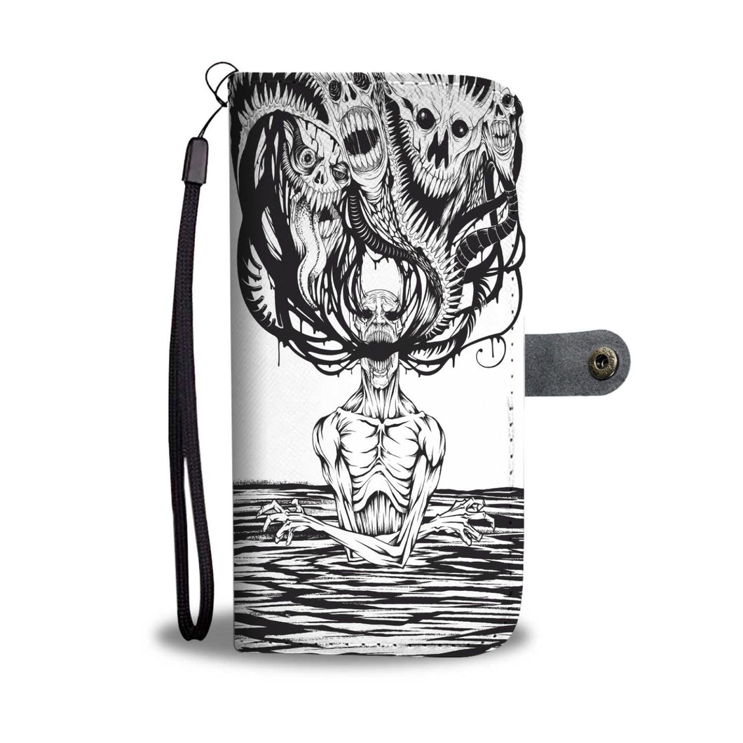 Downbeat Wallet Phone Case-Wallet Case-wc-fulfillment-SKULLZOPHRENIA