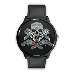 Guns Skull & Roses Watch-Watch-wc-fulfillment-Mens 40mm-Black-SKULLZOPHRENIA
