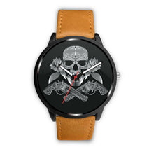 Load image into Gallery viewer, Guns Skull & Roses Watch-Watch-wc-fulfillment-Mens 40mm-Brown-SKULLZOPHRENIA