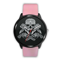 Load image into Gallery viewer, Guns Skull & Roses Watch-Watch-wc-fulfillment-Mens 40mm-Pink-SKULLZOPHRENIA