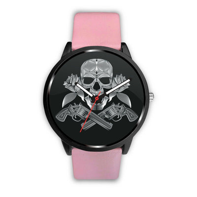 Guns Skull & Roses Watch-Watch-wc-fulfillment-Mens 40mm-Pink-SKULLZOPHRENIA