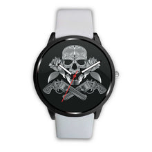Load image into Gallery viewer, Guns Skull & Roses Watch-Watch-wc-fulfillment-Mens 40mm-White-SKULLZOPHRENIA
