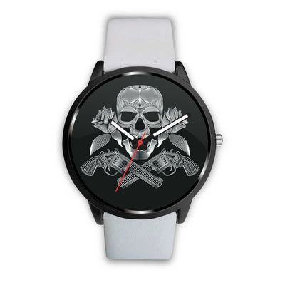 Guns Skull & Roses Watch-Watch-wc-fulfillment-Mens 40mm-White-SKULLZOPHRENIA