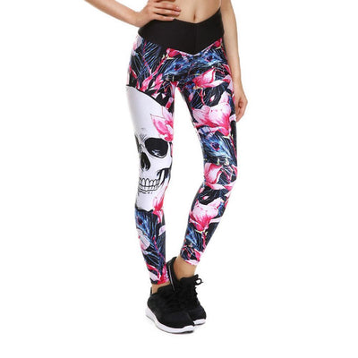 Hue Splash Skull Leggings-leggings-SKULLZOPHRENIA-SKULLZOPHRENIA