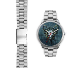 Load image into Gallery viewer, Hybrid Goat Skull Watch-Silver Watch-wc-fulfillment-Mens 40mm-Silver Metal Link-SKULLZOPHRENIA